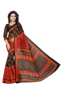 Charismatic Bhagalpuri Silk Printed Casual Saree