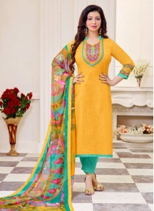 Charming  Cotton  Straight Suit