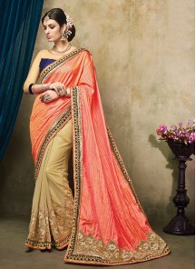 Charming Embroidered Georgette Designer Saree