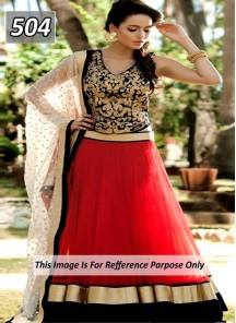Charming Net Anarkali Lehenga