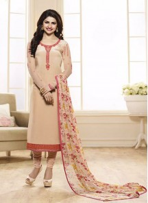Chic Cream Churidar Salwar Kameez
