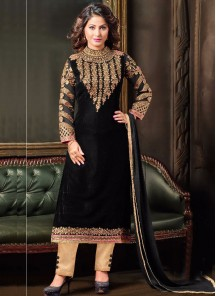 Astonishing  Designer Straight Salwar Kameez