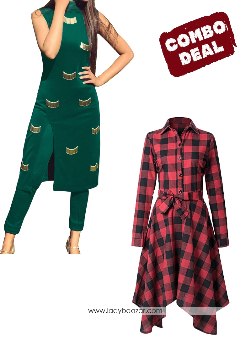 Classy Dress and Western Dress Pack of 2 Combo
