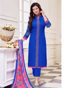 Attractive Blue  Cotton  Salwar suit