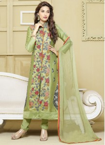 Cotton Satin Churidar Suit
