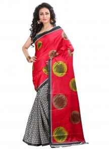 Cute Bhagalpuri Silk Printed Casual Saree