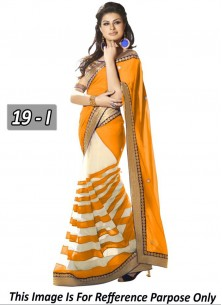 Cute Georgette  Embroidered Work Classic Saree