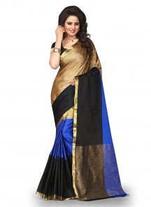 Cute Multi Color Cotton Silk Printed  Casual Saree
