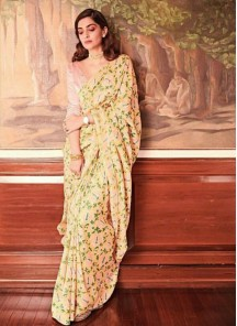 Dainty Abstract Print Silk Printed Saree