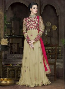 Dazzling Georgette Embroidered Anarkali Suit