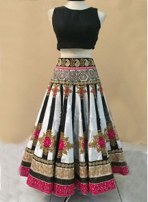 Debonair multy Work Net A Line Lehenga Choli
