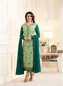 Delightsome Brasso Green Straight Suit