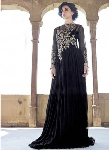 Designer black net Gown