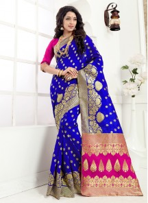 Distinctive Designer Banarasi silk saree