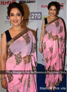 Distinctively Embroidered Work Traditional Saree