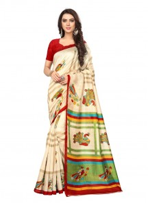 Divine Multi Color Printed Saree