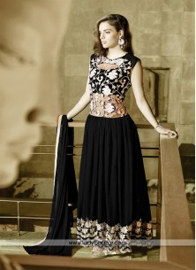 Divine Georgette And Net Embroidered Work Designer Gown