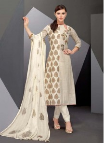 Divine Satin Multi Colour Designer Straight Suit