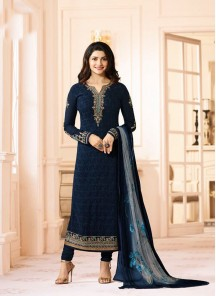 Elite Georgette N Chiffon Embroidery Work Full Sleeve Dress