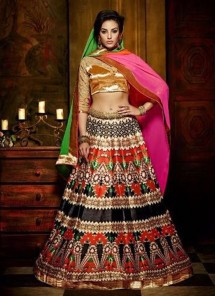 Embroidered Banglori Silk Anarkali Lehenga