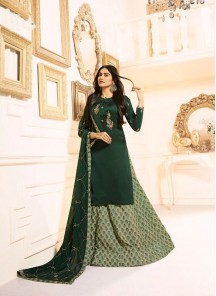 Epitome Embroidered With Stone Work Designer Palazzo Suit