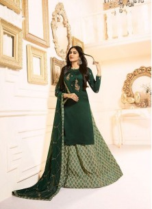 Epitome Embroidered With Stone Work Designer Palaz
