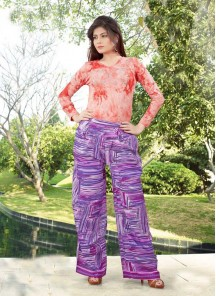 Especial Lavender Reyon Printed Palazzo For Girls