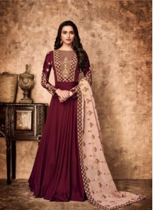 Exceeding Georgette Wedding Floor Length Anarkali Suit