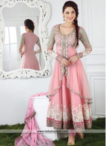 Exciting Pink Anarkali Salwar Kameez
