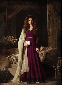 Exquisite Georgette Fancy  Work Anarkali Salwar Kameez