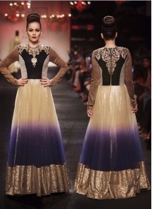 Fab blue velvet Anarkali Suit