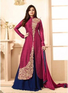 Fab Bangalori Embroidered Trendy Suit