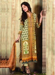 Yellow Cotton Churidar Designer Suit