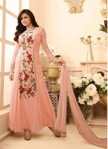 Fab  Georgette Anarkali Suit
