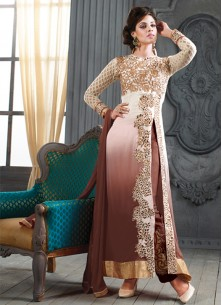 Fab Georgette Embroidered Ankle Lenght Suit
