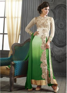 Attractive Georgette Embroidered Ankle Lenght Suit