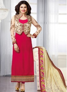 Fab  Georgette Straight Suit