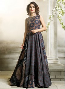 Mystic Digital Print  Stiched  Designer Gown