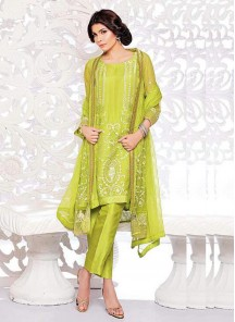 Faux Georgette Churidar Suit