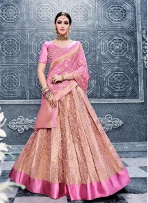 Floral Anarkali Lehenga Choli For Reception