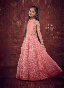 Light Pink Gown For Cute Baby
