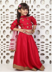 Regal Red Gown For Cute Baby