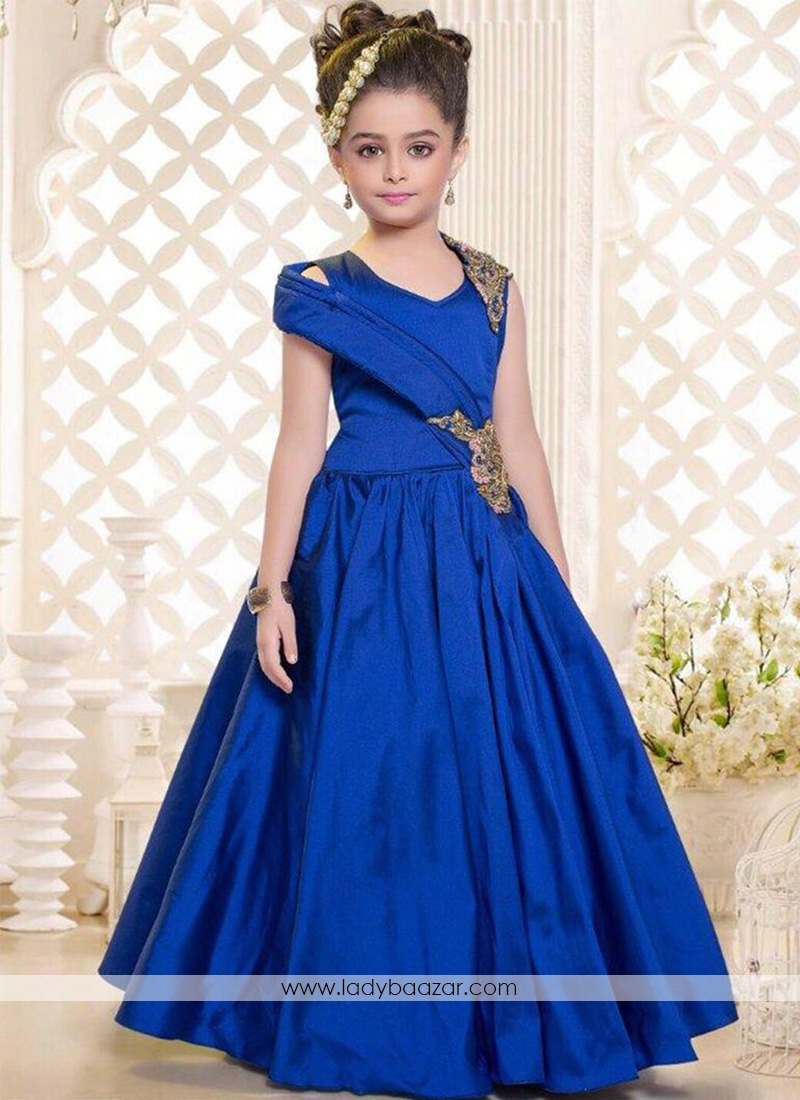 royal blue gown for cute baby