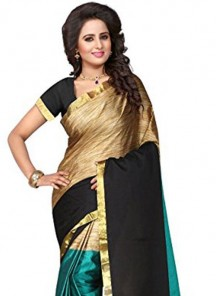 Genius Multi Cotton Silk Printed Saree