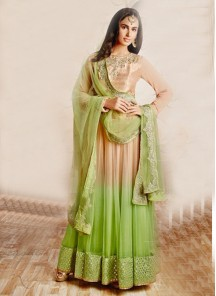 attractive georgette sea green anarkali suit