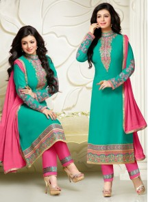 Fab Georgette Churidar Suit