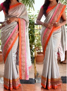 Georgette Hand Embroidery Casual Saree