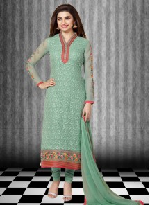 Georgette Straight Suit