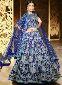 Gilded Embroidered Work Malbari Silk Designer Lehenga Choli