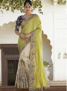 Glamorous Georgette Patch Border Work Designer Saree